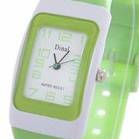 Dinal 粉彩甜蜜 女孩專屬甜心腕錶 綠