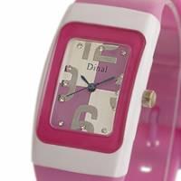Dinal 粉彩數字 女孩專屬甜心腕錶 紫