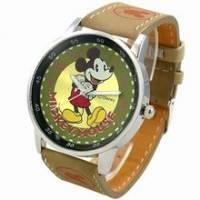《Disney 迪士尼》得意米奇復古錶 綠