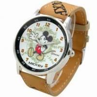 《Disney 迪士尼》招手米奇復古錶 黑