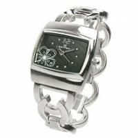 【柔情花氛】黑采晶燦鍊錶