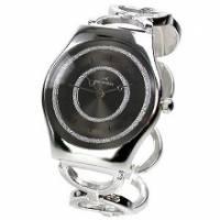 【圓戀璀璨】黑飾輕薄型鍊錶