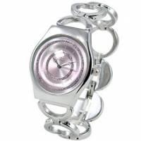 【圓戀璀璨】紫飾輕薄型鍊錶