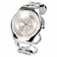 【圓戀璀璨】白飾輕薄型鍊錶