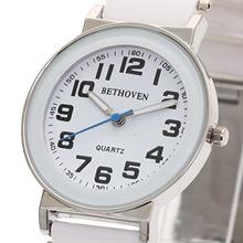 Bethoven 白色奇跡 都會時尚腕錶 (黑時標)