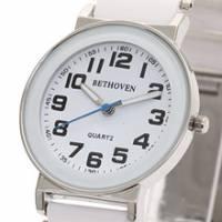 Bethoven 白色奇跡 都會時尚腕錶 黑時標