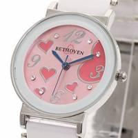Bethoven 繽紛甜心 可愛精選腕錶 粉紅