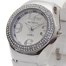 Bethoven 夢幻巨星 奢華晶鑽腕錶 (白)