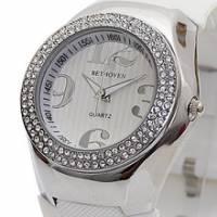 Bethoven 夢幻巨星 奢華晶鑽腕錶 白