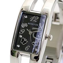 Bethoven 蝶舞星辰 流行手環式腕錶 (黑)