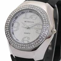 Bethoven 夢幻巨星 奢華晶鑽腕錶 黑