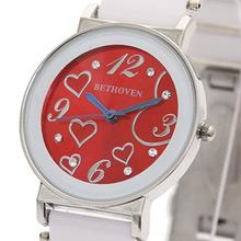 Bethoven 繽紛甜心 可愛精選腕錶 (紅)