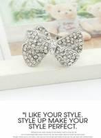 《完美比例》鑲鑽蝴蝶結戒指~~超值感喔