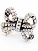 《完美比例》米珠蝴蝶結戒指