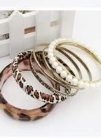《完美比例》豹紋珍珠多環手鐲
