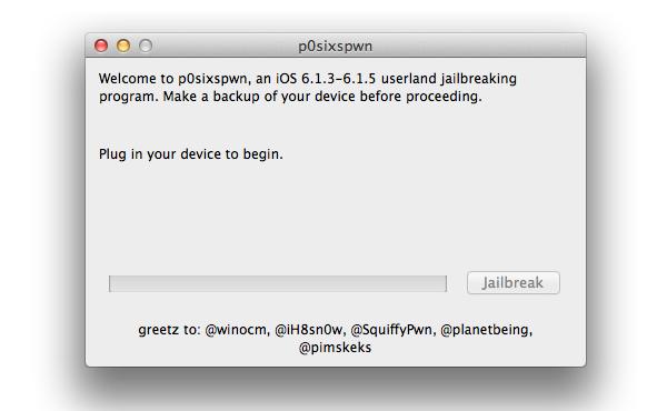 "新JB工具""P0sixspwn"": 完美JB破解 iOS 6.1.x, 支援所有iOS裝置"