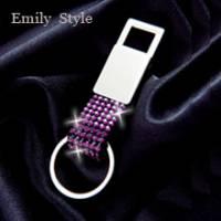 實現夢想的彩虹‧方頭鑰匙圈 紫水晶 F