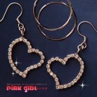 【pink girl】愛心圓舞曲~可拆式假變心鑽石耳環