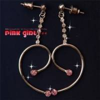 【pink girl】浪漫久久~點點成雙愛情鑽石耳環