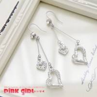 【pink girl】甜美妝感‧幸福愛心時尚耳環