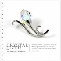 新光飾品‧七彩繽紛含情花朵水晶胸針XZ88004
