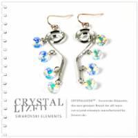 新光飾品‧七彩繽紛佳人含笑水晶耳環EH88039