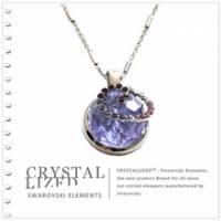 新光飾品‧紫色魅影圓珠水晶項鏈XL88131