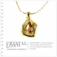 新光飾品‧黃色魅影水晶項鏈 XL88129