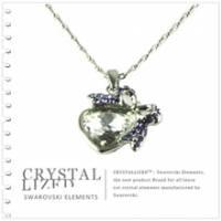 新光飾品‧紫色魅影心形水晶項鏈 XL88128