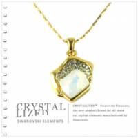 新光飾品‧乳白色魅影水晶項鏈XL88125