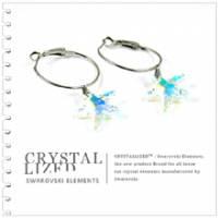 新光飾品‧七彩繽紛含笑韓版海星水晶耳環EH88033