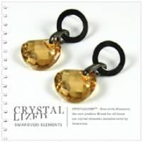 新光飾品‧金色魅影環環相扣水晶耳環 EH88003