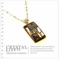 新光飾品‧黃色魅影長方形水晶項鏈 XL88133