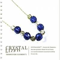 新光飾品‧藍色魅影潮流圓珠水晶項鏈 XL88065