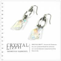 新光飾品‧白金陰影低調入侵韓版水晶耳環 EH88027