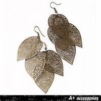 A+ accessories 片片相思-葉子造型外銷款耳環