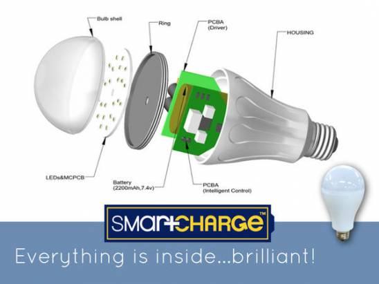 停電也可發光 •《SmartCharge》智慧燈泡
