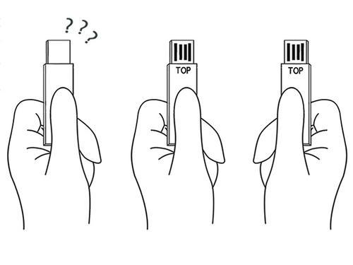不怕插反的 USB 概念隨身碟