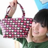 iSPurple《日系甜心》亞麻印花手提包