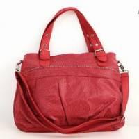 《iSPurple》摩登鱗紋鍊飾桶包-紅