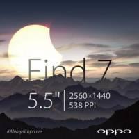 Oppo 預告新款手機 Find 7 將搭載 5.5 吋 2K 等級螢幕