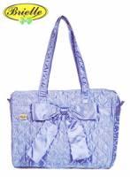 Brielle 菱格中型側背包B006M-07-1 淺藍
