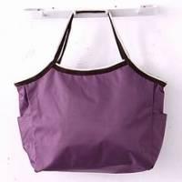 《iSPurple》魅力玩色自然風尼龍防水包-深紫