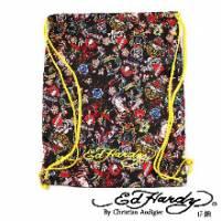 《ED Hardy》印花經典刺青圖騰輕薄後背包