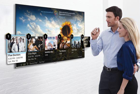 三星宣示 2014 年智慧電視將強化語音指令與手指體感功能