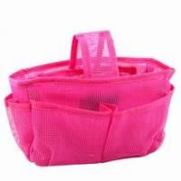 《桃紅網狀》隨身多格包中袋