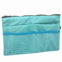 《筆電可放》大型舖棉包中袋 藍