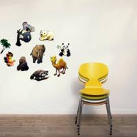 Wally Fun 窩裡Fun 玩樂壁貼 ~ 動物世界-1 ZSS-025 §