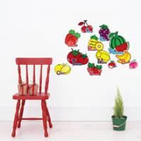 Wally Fun 窩裡Fun 玩樂壁貼 ~ 水果字母 KF02-19 §