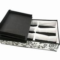 《iSFun》黑白花藤*雙開內衣收納盒
